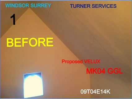 Velux window new installment before & af