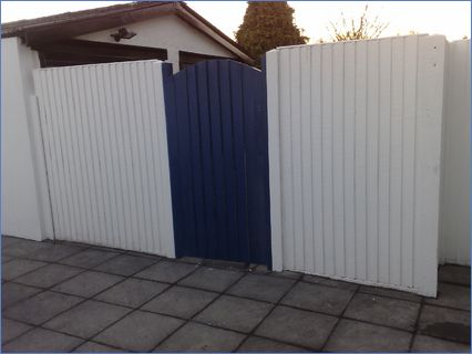 Fence and gate fitted