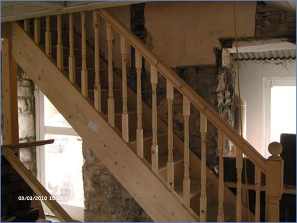 NEW PINE STAIRS  SPINDLES
