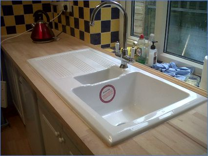 Inset Firestone Sink and Worktop by Oakb