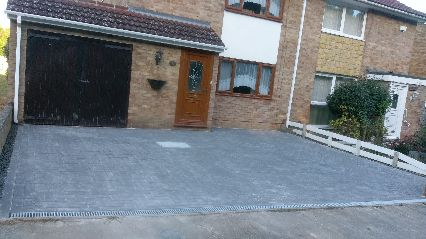 charcoal block paved drive