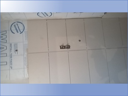 Tiling over integrated shower