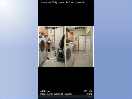 Utility area cleaning