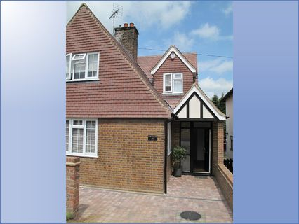 a challenging home extension in Harpende