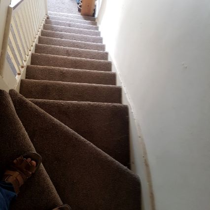 stair case with rounded steps