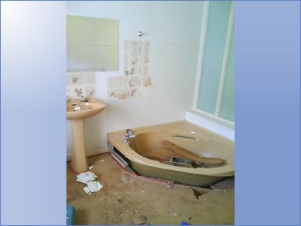 Before picture of sunken bath