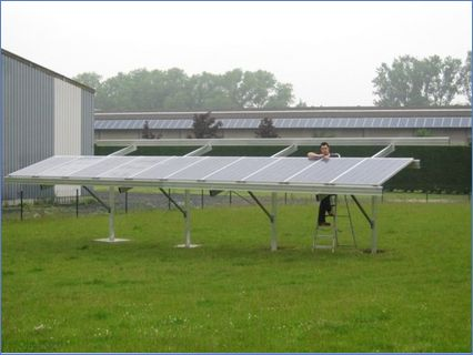 Ground mounted Solar PV systems supplied