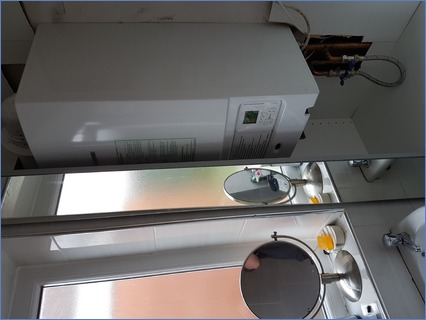Boiler replacement & fitted cupboard