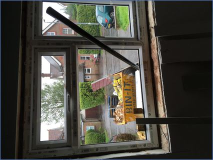 Fitting a new upvc window