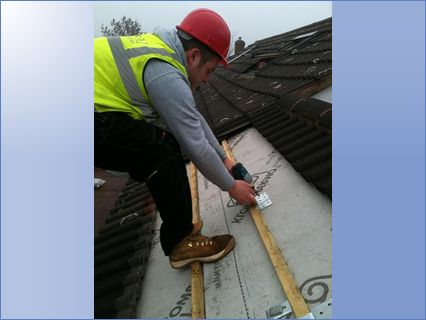 installing roof fixings