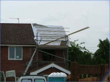 single storey side extension trussed roo