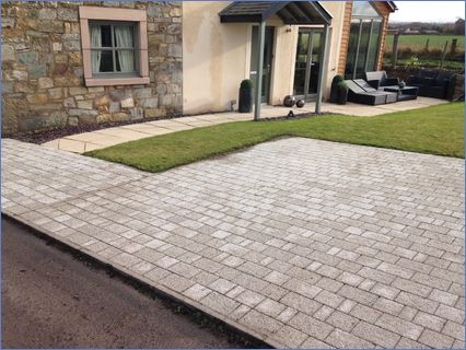 driveway and patio pressure clean