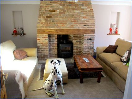 Fireplace built, woodburner fitted Norfo