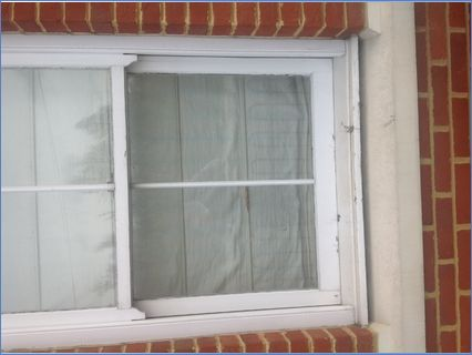 Sash window before decorating