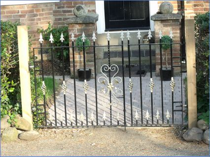 Metal gates and posts