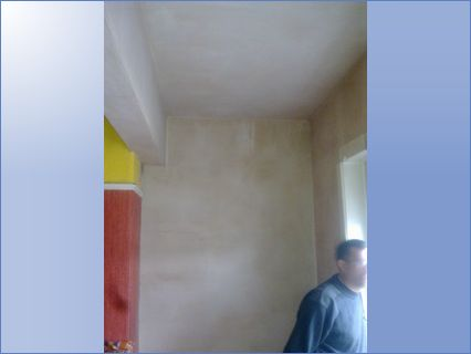 Ceiling replasted