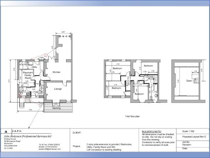 Example of proposed floor layouts