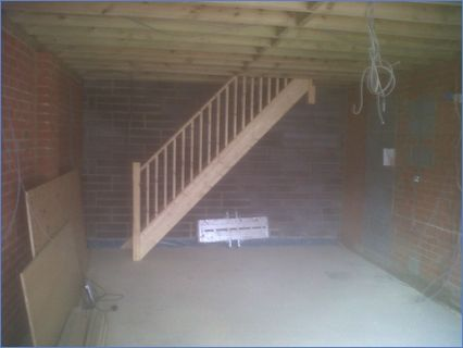 stairs made from scratch and fitted on s