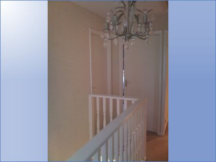 Upstairs Landing - Wallpapered and Woodw
