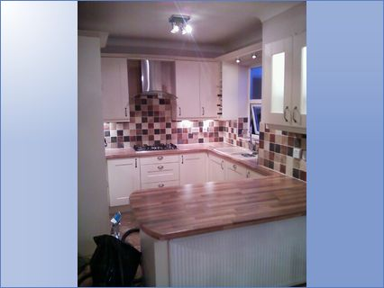 this kitchen solid wood wtops installed