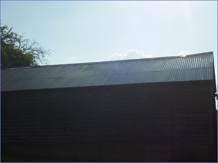 Barn roof after work completed