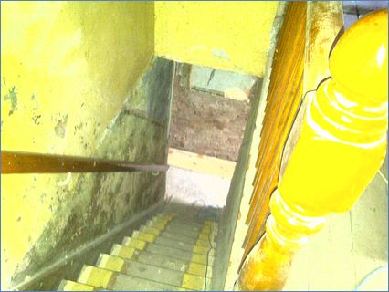 Stairs and landing before plastering