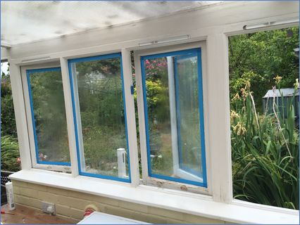 Re-paint of the conservatory windows