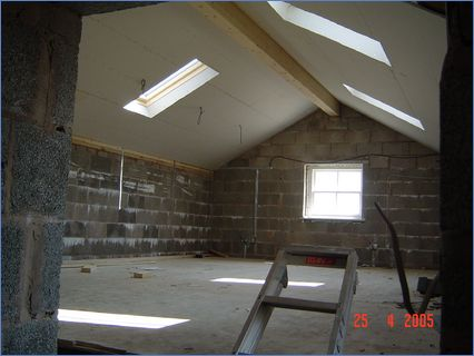 plaster board / insulation / stairs