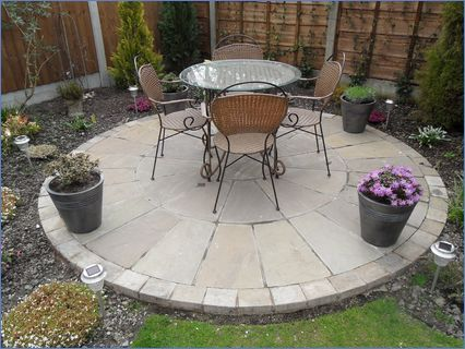 Indian Stone circle patio area