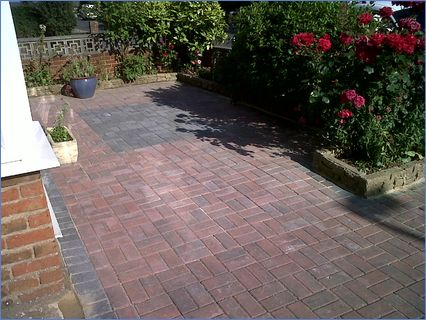 patio all in block work