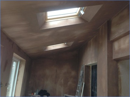 Boarded & skimmed extension