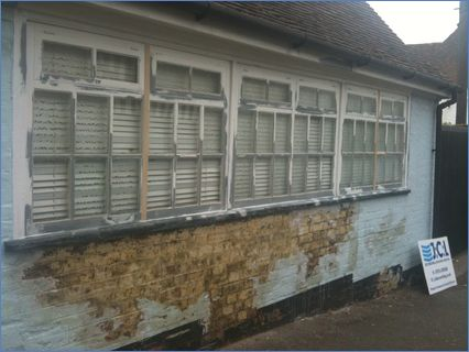This window was in a poor state  and alo