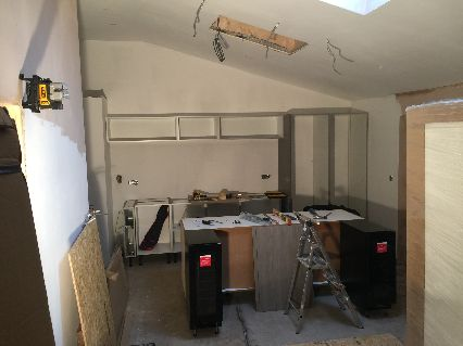 Setting out Kitchen