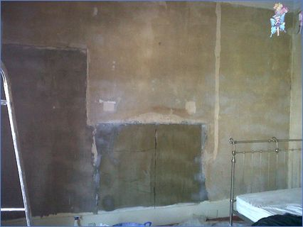 Large wall before being plastered