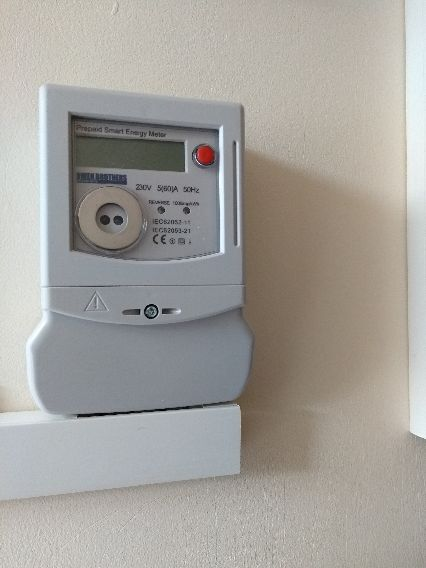 Meter supplied in HMO for power to each