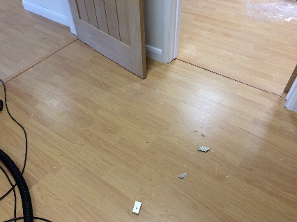 Laminate floor completed, an another oak