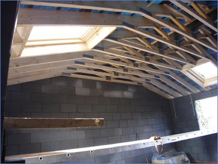gang nailed truss roof with velux window