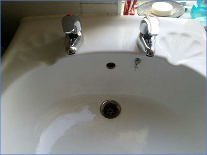 replaced bathroom taps