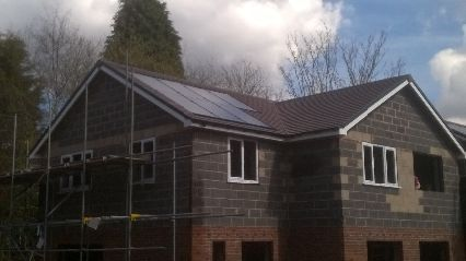 a new build fitted with solar panels