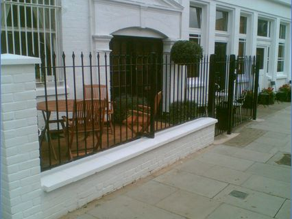 Installed new capping stones fencing and