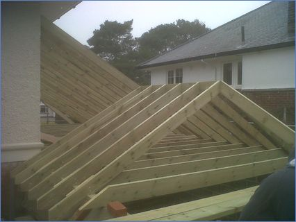 Cut roof by us in the snow