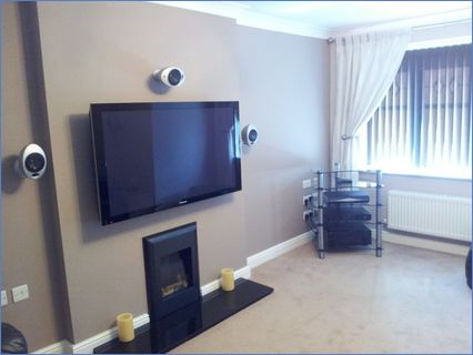 Living room TV and surround sound instal
