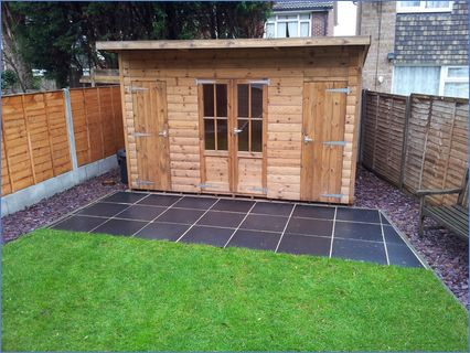 Landscaped Garden New Summer House  Fenc