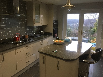 Dining room to new kitchen in Stroud