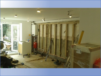 building false wall and fittting new kit